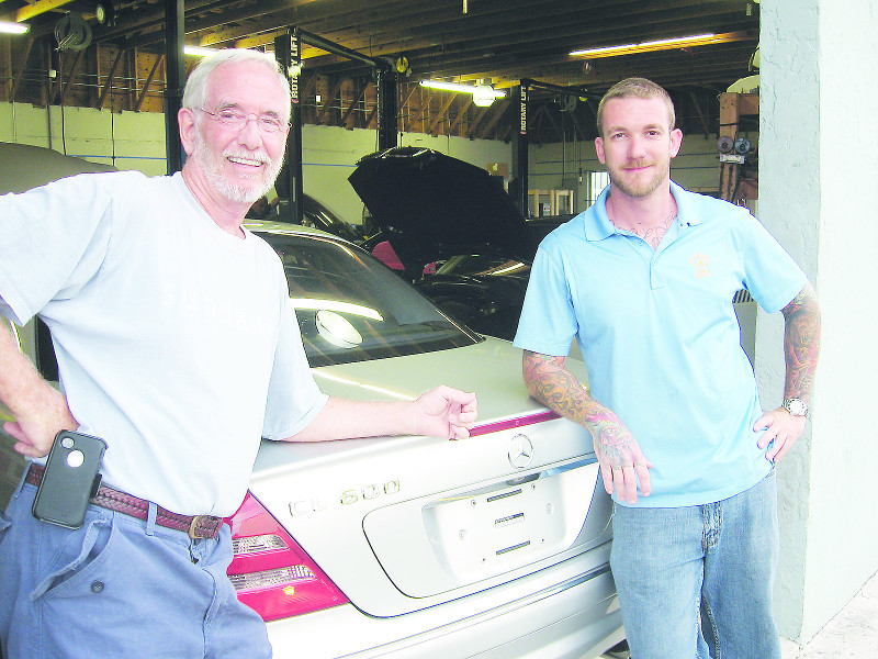 Michael McAdams and Ryan Giddings, past and present owners of Church Street Garage